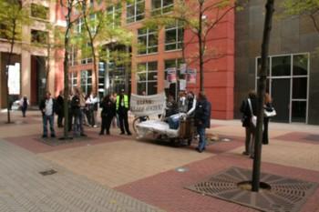 Protest bij VWS